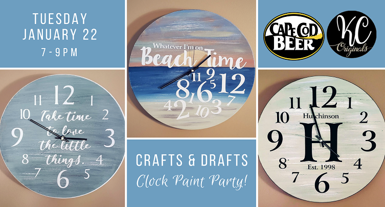 Crafts & Drafts: Clock Paint Party