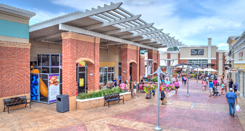 The Outlet Shoppes at Atlanta is the nearest Outlet center to Atlanta located in Woodstock, GA, just 30 miles north. Featuring stores like Saks Fifth Avenue OFF 5TH, Michael Kors, Coach, Nike, Columbia, Vineyard Vine, Johhny Rockets and more! Report. People also viewed/5().