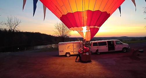 Winter Special: Shared Gettysburg Hot Air Balloon Ride