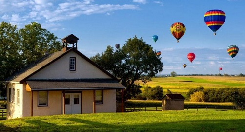 Winter Special: Shared Lancaster County Hot Air Balloon Ride