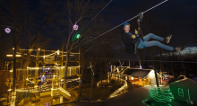 Christmas Cabins and Ziplines at Refreshing Mountain