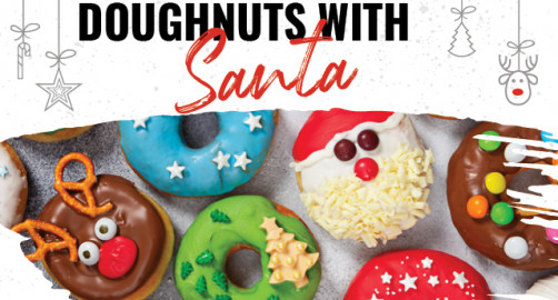 Doughnuts with Santa