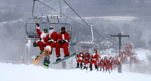 10th Annual Skiing and Riding Santa Day